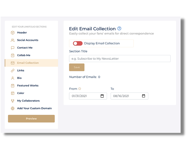What is Email Collection